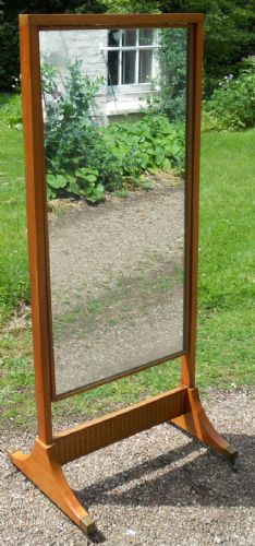 Mahogany Cheval Dressing Mirror by Loughborough